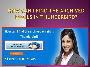 How can I find the archived emails in Thunderbird