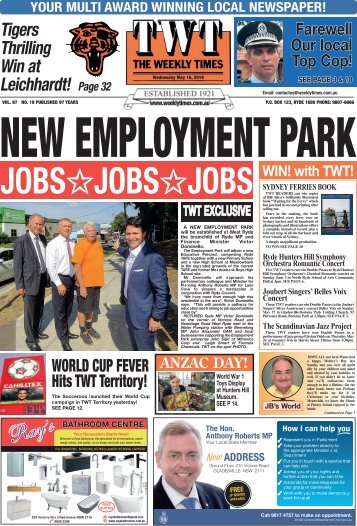 The Weekly Times - TWT - 16th May, 2018