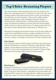 Top 5 Roku Streaming Players