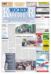 Wochen-Kurier 20/2017 - Lokalzeitung für Weiterstadt und Büttelborn