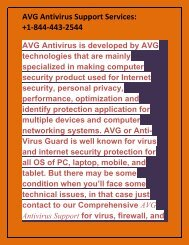 AVG Antivirus Support Services +1-844-443-2544