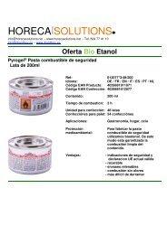 Flyer Pyrogel - Pasta combustible - Bio Etanol