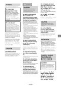 Sony KDL-55W829B - KDL-55W829B Informations d'installation du support de fixation murale Suédois - Page 3