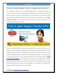 How to Contact Apple Team for support and service?