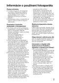 Sony SLT-A65M - SLT-A65M Consignes d'utilisation Slovaque - Page 7