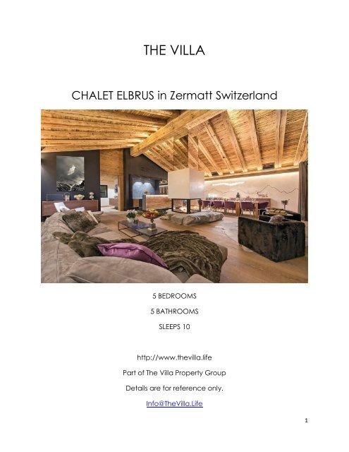 Chalet Elbrus - Zermatt Switzerland