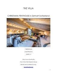 Christiania Penthouse - Zermatt Switzerland