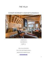 Chalet Mckinley - Zermatt Switzerland