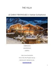 Le Daray Penthouse - Verbier Switzerland