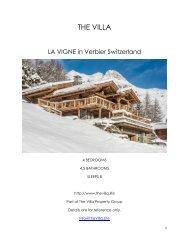 La Vigne - Verbier Switzerland
