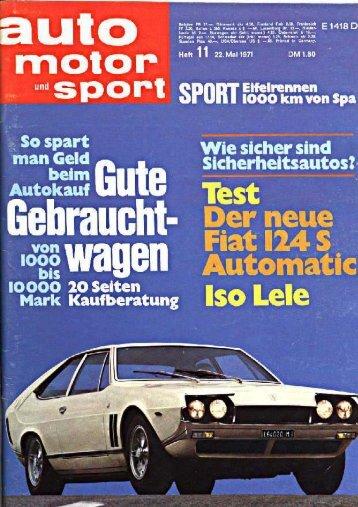 Auto Motor Sport - Iso Rivolta
