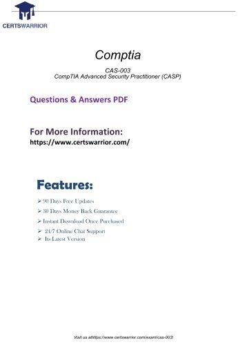 CAS-003 Free PDF Demo Material 2018