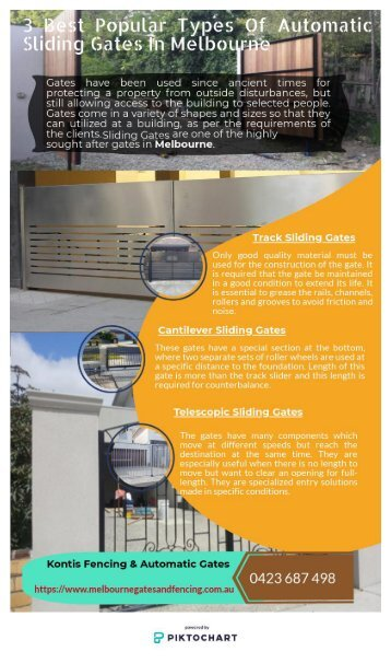 3 Best Popular Types Of Automatic Sliding Gates In Melbourne