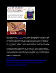 Thermo Burn - It Really Work For Weight Loss