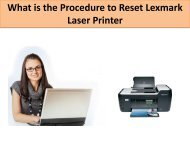 What is the Procedure to Reset Lexmark Laser Printer