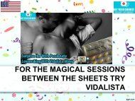 For the magical sessions between the sheets try Vidalista