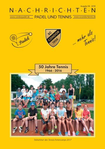 Condor Tennisnachrichten Nr. 58