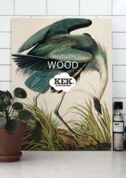 KEK Amsterdam Katalog 'Prints on wood' 2018
