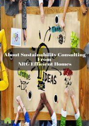 Sustainability Consulting For a Better Tomorrow