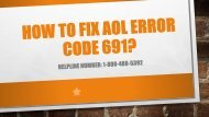 1-800-488-5392 Fix AOL Error Code 691