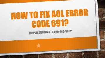 1-800-488-5392 Fix AOL Error Code 691