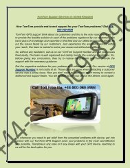 How TomTom provide end-to-end support for your TomTom problems Dial 44-800-069-8998 (2)