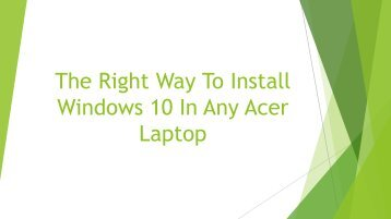 How You Can Easily Install Windows 10 In Any Acer Laptop