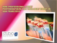 Hire Professional Event Photographers for your next event in San Francisco