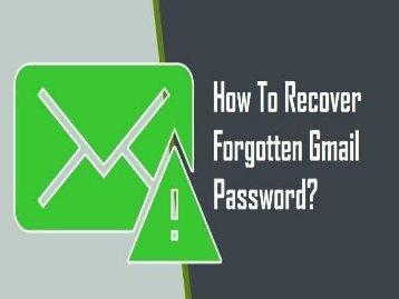 1-800-213-3740 Recover Forgotten Gmail Password