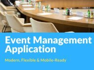 Event Management Application| Modern, Flexible, Mobile-Ready