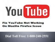 1-800-240-2551 Fix YouTube Not Working On Mozilla Firefox Issue