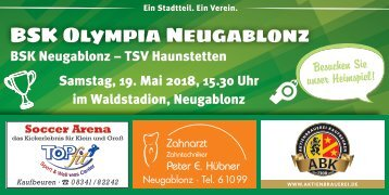 BSK Olympia Neugablonz gegen TSV Haunstetten
