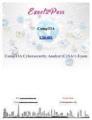 CompTIA CS0-001 Dumps Exact2pass