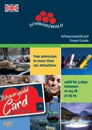 SchwarzwaldCard Travel Guide 18/19 English