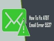 1-800-361-7250 | Fix AT&T Email Error 553