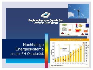 Studium Nachhaltige Energiesysteme
