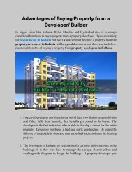 Advantages of Buying Property from a Developer Builder