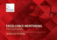 Das Excellence Mentoring Programm von Speakers Excellence 2018