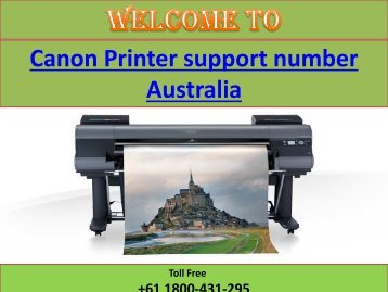 Canon Printer support number Australia