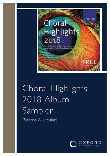 Oxford Choral Highlights: Sacred and Secular 2018