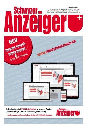 Schwyzer Anzeiger – Woche 20 – 18. Mai 2017