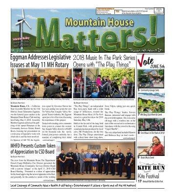 Mountain House Matters - May 2018