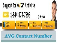 AVG Support Number +1-844-874-7898 (Toll-Free)