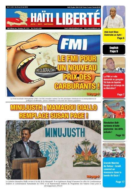 Haiti Liberte 16 Mai 2018