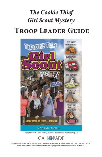 The Cookie Thief Girl Scout Mystery Troop Leader Guide