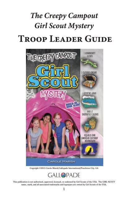 The Creepy Campout Girl Scout Mystery  Troop Leader Guide