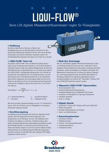 LIQUI-FLOW® - Bronkhorst High-Tech B.V.