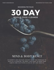 30 Day Whole Food Cleanse