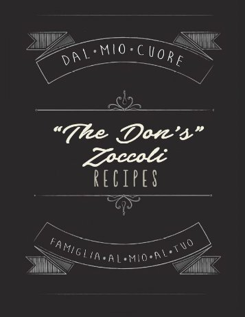 The Don Zoccoli Family Recipe Book