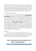 Why Clinical Psychology Thesis Help is Very Important - Page 4